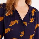 Elspeth EMILY AND FIN Vintage Tigers Print Blouse