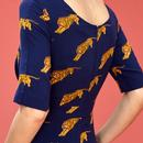 Hattie EMILY AND FIN Vintage Tigers Print Dress