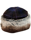 failsworth retro 60s fur trim cossack hat purple