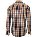 Brewer FARAH Mod Tartan Button Down Shirt (Gold)