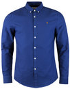Brewer FARAH 60s Mod Slim L/S Oxford Shirt REGATTA
