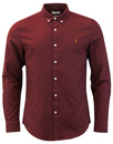 farah brewer slim shirt red mod