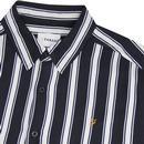 Evison FARAH Retro Mod Casual Fit Stripe Shirt TN