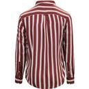 Evison FARAH Retro Mod Casual Fit Stripe Shirt BR