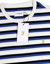 Factory FARAH Retro 60s Bold Multi Stripe T-Shirt