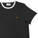 Groves FARAH Retro Mod Ringer T-Shirt (Deep Black)