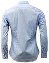 Handford FARAH Mens Mod Bone Collar Smart Shirt PB