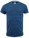 Lennox FARAH Retro 60s Mod Stripe Marl T-Shirt (A)