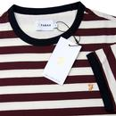 Belgrove FARAH Retro Men's 60s Mod Striped T-Shirt