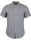 farah telford micro dogtooth shirt navy