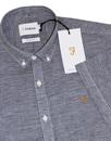 Telford FARAH Retro Micro Dogtooth Shirt - Navy