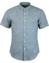 Telford FARAH Retro Micro Dogtooth Shirt - Orion
