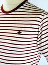 The Barden FARAH 1920 Retro 60s Mod Stripe Tee (C)