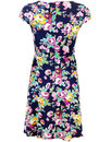 Ava FEVER Retro 1960s Floral Cut Out Flare Dress
