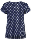 Tulip FEVER Retro 60s Polka Dot Cap Sleeve Top (N)