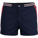 fila vintage mens hightide snap button swim shorts peacoat red
