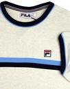 Razee FILA VINTAGE 70s Chest Stripe T-Shirt ECRU