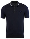fred perry 2-tone knitted polo navy