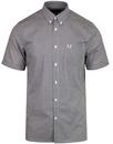 fred perry short sleeve gingham check shirt nettle