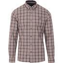 fred perry grey Thompson tartan check mod shirt