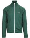 fred perry laurel wreath tape track top ivy green