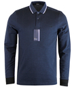fred perry tipped polo L/S service blue