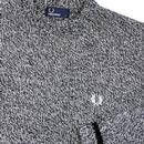 FRED PERRY Mod Merino Wool Blend Crew Neck Jumper