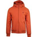 fred perry hooded padded bretham jacket paprika