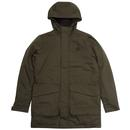 Fred perry padded parka jacket hunter green