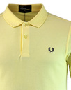 FRED PERRY Men's M6000 Slim Fit Polo Shirt Yellow