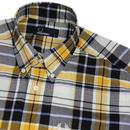 FRED PERRY S/S Retro Mod Madras Check Shirt PEANUT