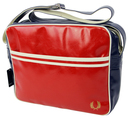 fred perry shoulder bag red