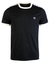 fred perry taped ringer tee black