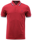 FRED PERRY OXFORD TWIN TIPPED POLO BLOOD BRAMBLE