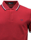 FRED PERRY M3600 Mod Twin Tipped Polo Shirt Blood