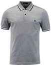 fred perry twin tipped oxford polo dark carbon