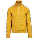 fred perry taped sleeve track top gold