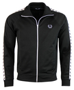 fred perry taped track top black