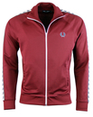 fred perry taped track top maroon