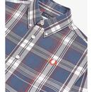 FRED PERRY Men's Retro Mod Twill Check Shirt MB