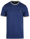 fred perry twin tipped t shirt french blue