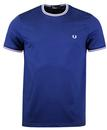 Fred Perry Twin tipped crew neck tee medieval blue