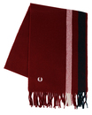 fred perry woven scarf maroon