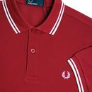 FRED PERRY M3600 Mod Twin Tipped Polo Shirt CLARET
