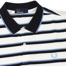 FRED PERRY Fine Stripe Retro Mod Pique Polo Shirt