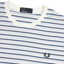 FRED PERRY Retro Fine Stripe Crew Neck T-Shirt SW
