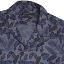 FRENCH CONNECTION Retro 1970s Hawaiian Leaf Shirt