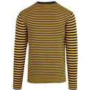 FRENCH CONNECTION 60s Mod Knit Stripe Jumper (Y/N)