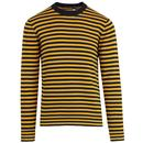 french connection retro 60s mod wool stripe jumper
