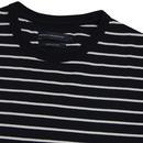FRENCH CONNECTION Retro Mod Stripe Crew T-shirt